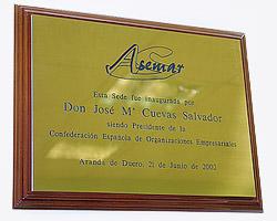 Placa Conmemorativa en Asemar